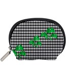 Houndstooth Leaf Accessory Pouch (Small)