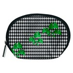 Houndstooth Leaf Accessory Pouch (Medium)