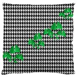 Houndstooth Leaf Large Flano Cushion Case (One Side)