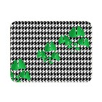 Houndstooth Leaf Double Sided Flano Blanket (Mini)