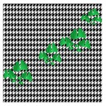 Houndstooth Leaf Large Satin Scarf (Square)