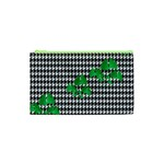 Houndstooth Leaf Cosmetic Bag (XS)