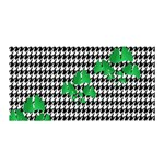 Houndstooth Leaf Satin Wrap