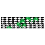 Houndstooth Leaf Satin Scarf (Oblong)