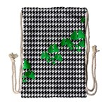Houndstooth Leaf Drawstring Bag (Large)