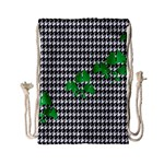 Houndstooth Leaf Drawstring Bag (Small)