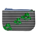 Houndstooth Leaf Large Coin Purse