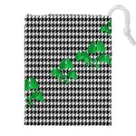 Houndstooth Leaf Drawstring Pouch (2XL)