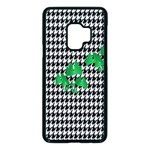 Houndstooth Leaf Samsung Galaxy S9 Seamless Case(Black)