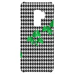 Houndstooth Leaf Samsung S9 Plus Black UV Print Case