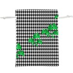 Houndstooth Leaf  Lightweight Drawstring Pouch (XL)