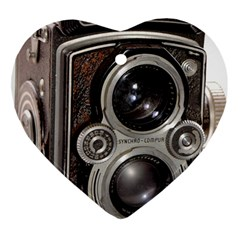 Rolleiflex camera Ornament (Heart) from ArtsNow.com Front