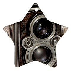 Rolleiflex camera Ornament (Star) from ArtsNow.com Front