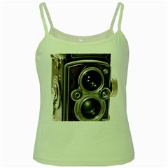 Rolleiflex camera Green Spaghetti Tank from ArtsNow.com Front