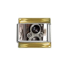 Rolleiflex camera Gold Trim Italian Charm (9mm) from ArtsNow.com Front