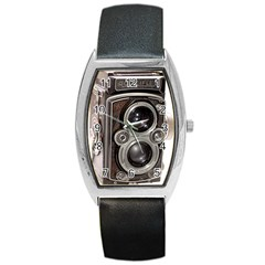 Rolleiflex camera Barrel Style Metal Watch from ArtsNow.com Front