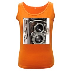 Rolleiflex camera Women s Dark Tank Top from ArtsNow.com Front