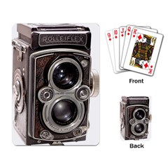 Rolleiflex camera Playing Cards Single Design from ArtsNow.com Back