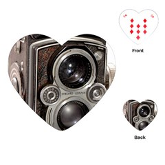 Rolleiflex camera Playing Cards (Heart) from ArtsNow.com Front