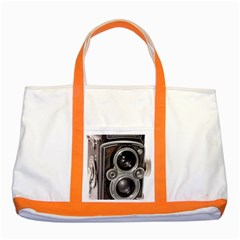 Rolleiflex camera Two Tone Tote Bag from ArtsNow.com Front