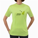 Food001 Women s Green T-Shirt