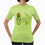 candle Women s Green T-Shirt