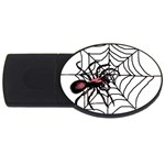 Spider in web USB Flash Drive Oval (4 GB)