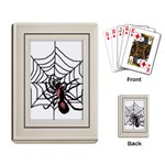 Spider in web Playing Cards Single Design
