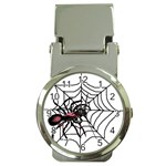 Spider in web Money Clip Watch