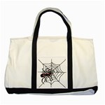Spider in web Two Tone Tote Bag