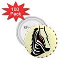Horse head 1.75  Button (100 pack)