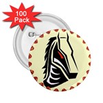 Horse head 2.25  Button (100 pack)