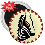 Horse head 3  Magnet (10 pack)