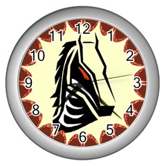 Horse head Wall Clock (Silver) from ArtsNow.com Front