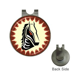 Horse head Golf Ball Marker Hat Clip from ArtsNow.com Front