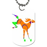 Bucking horse Dog Tag (One Side)
