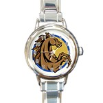 Horse circle Round Italian Charm Watch