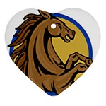 Horse circle Ornament (Heart)