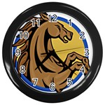 Horse circle Wall Clock (Black)