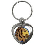 Horse circle Key Chain (Heart)