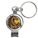 Horse circle Nail Clippers Key Chain