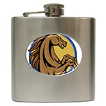 Horse circle Hip Flask (6 oz)
