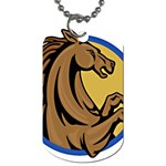 Horse circle Dog Tag (Two Sides)