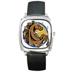 Horse circle Square Metal Watch