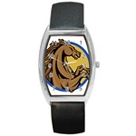 Horse circle Barrel Style Metal Watch