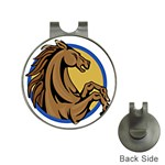 Horse circle Golf Ball Marker Hat Clip