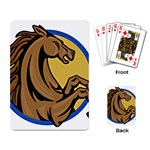 Horse circle Playing Cards Single Design