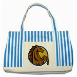 Horse circle Striped Blue Tote Bag