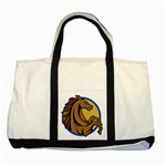 Horse circle Two Tone Tote Bag