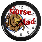 Horse mad Wall Clock (Black)